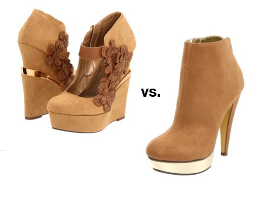 Wedge vs. Ankle Boots