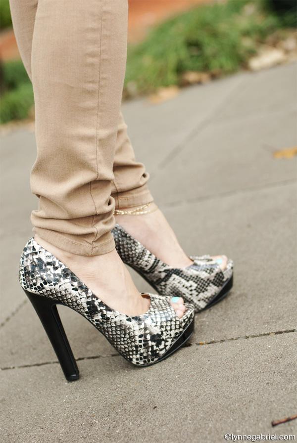 MyHotShoes Python High Heels