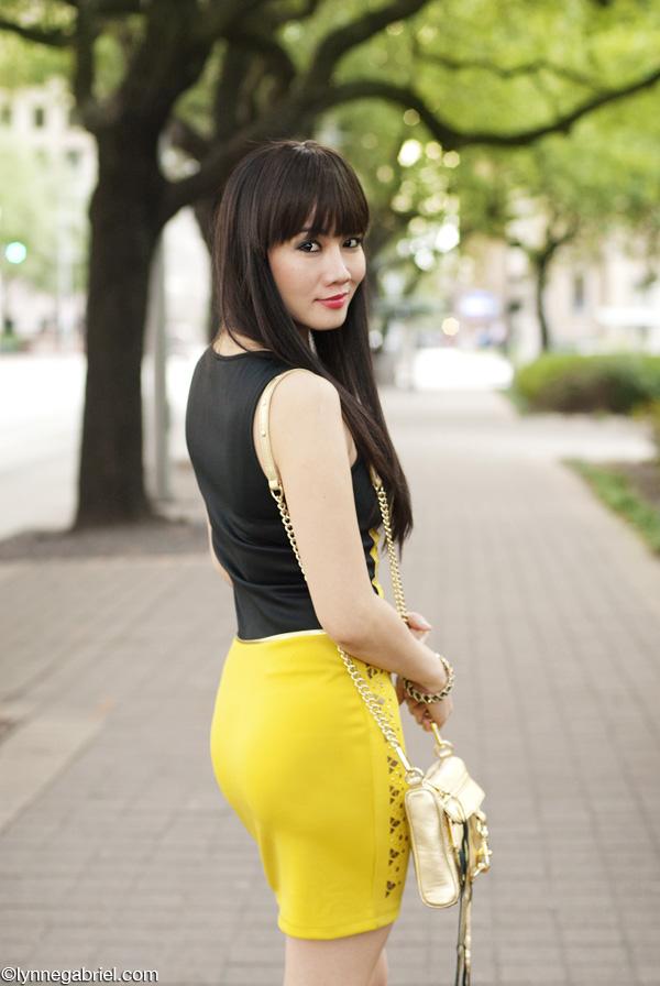 Houston Style Blogger Wears Studded Bodycon