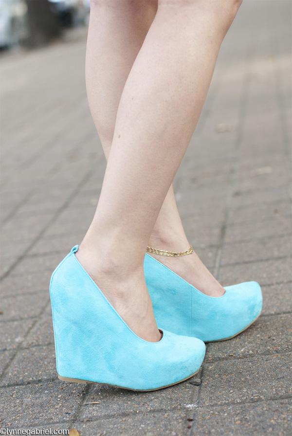 MyHotShoes Turquoise Wedges