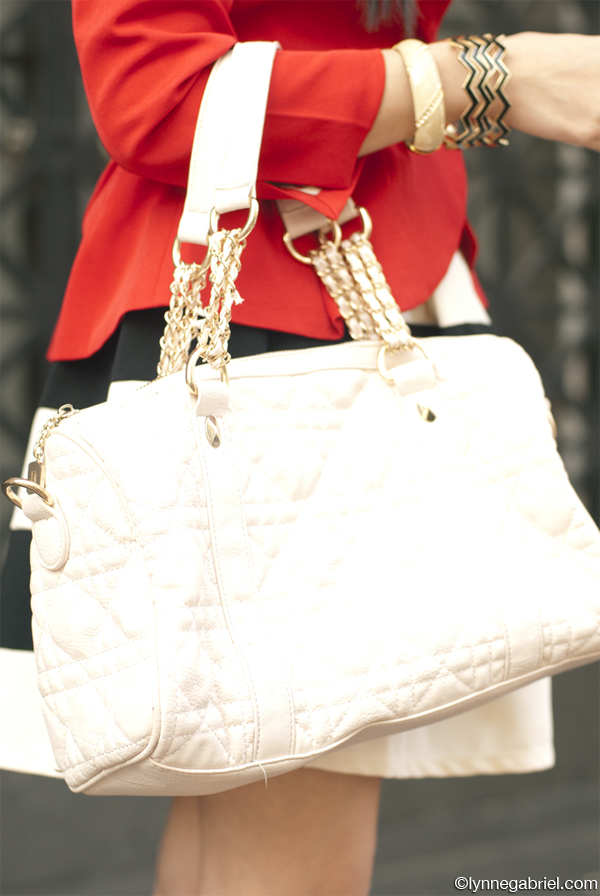 JustFab Quilted Handbag