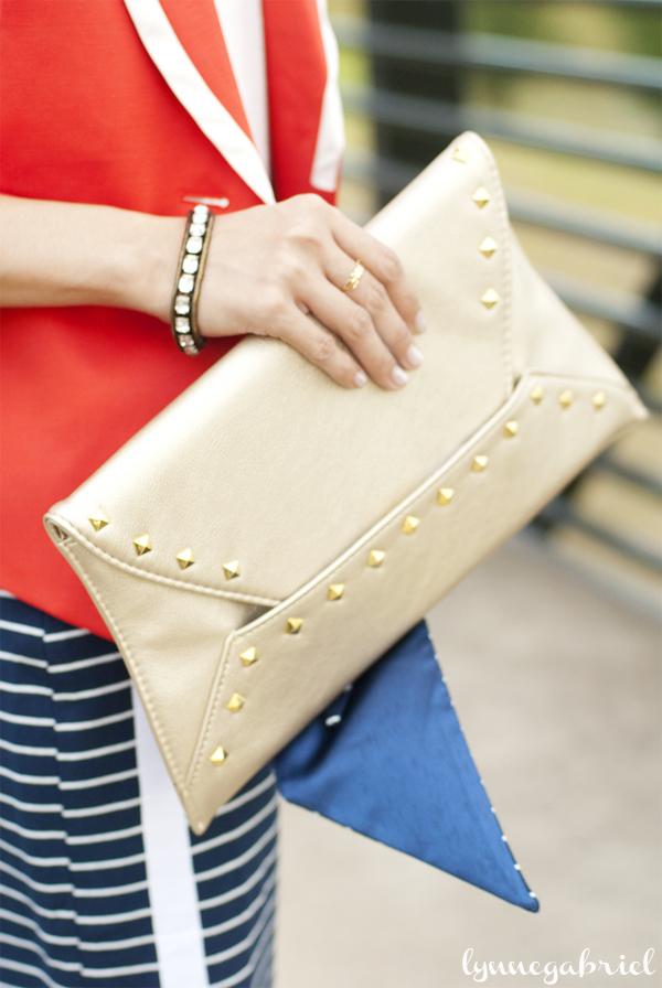 Spiegel Studded Envelope Clutch Bag