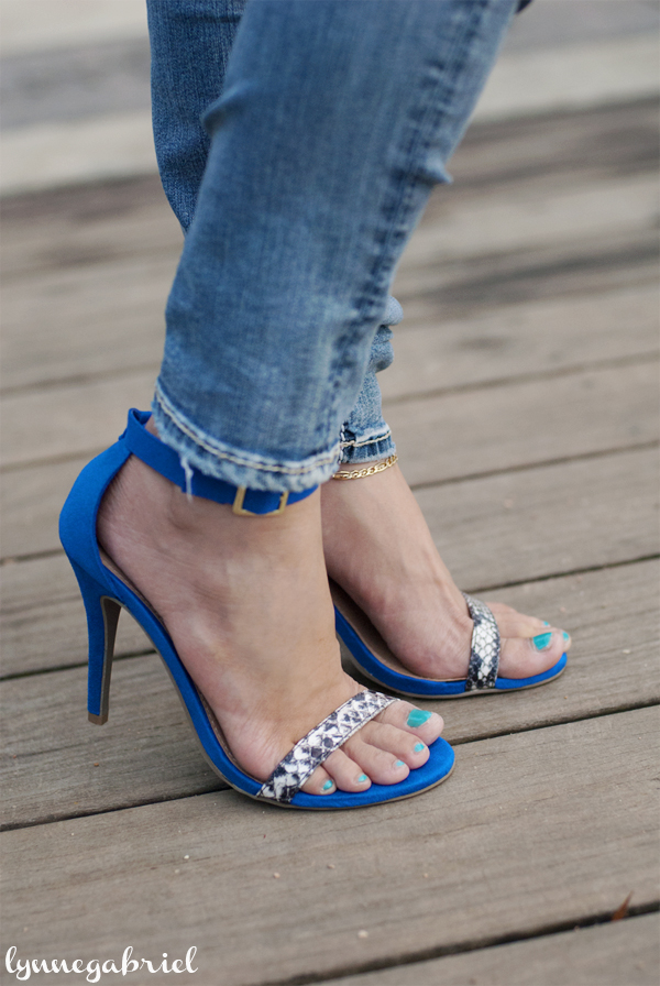 JustFab Cobal Blue Shoes
