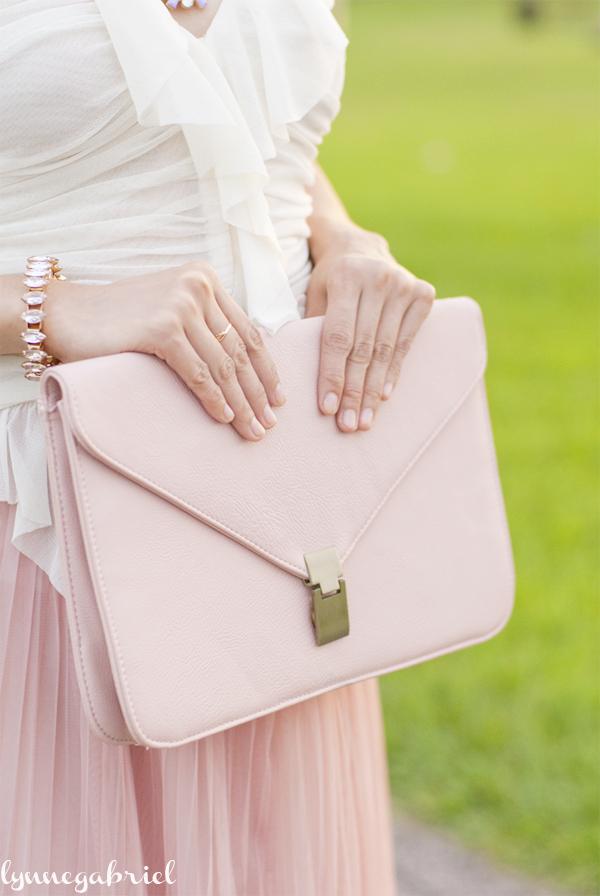 Pink Envelope Clutch Bag