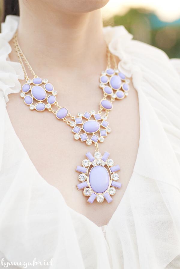 Lilac Bauble Necklace