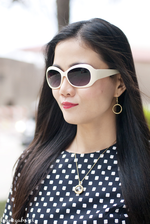 White Retro Sunglasses