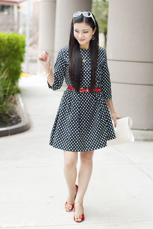 Romwe Black and White Square Dress