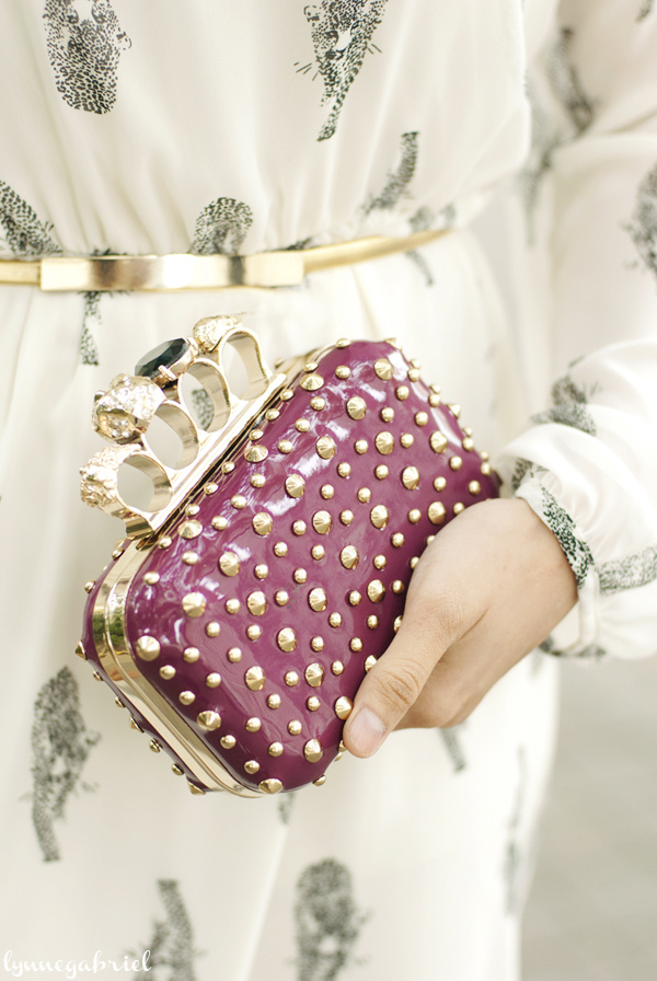 Studded Knuckle Clutch