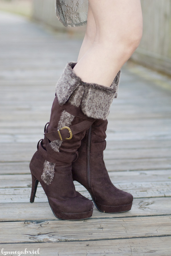 Boots with Fur Cuff