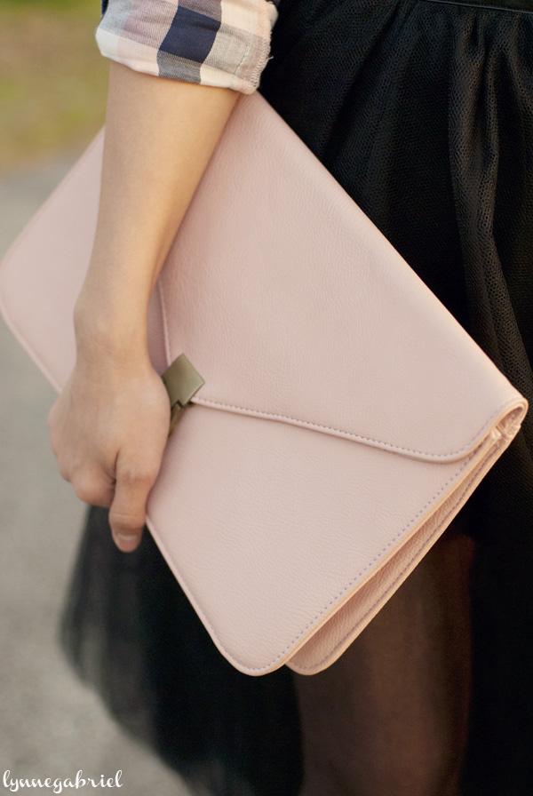Forever21 Blush Clutch Bag