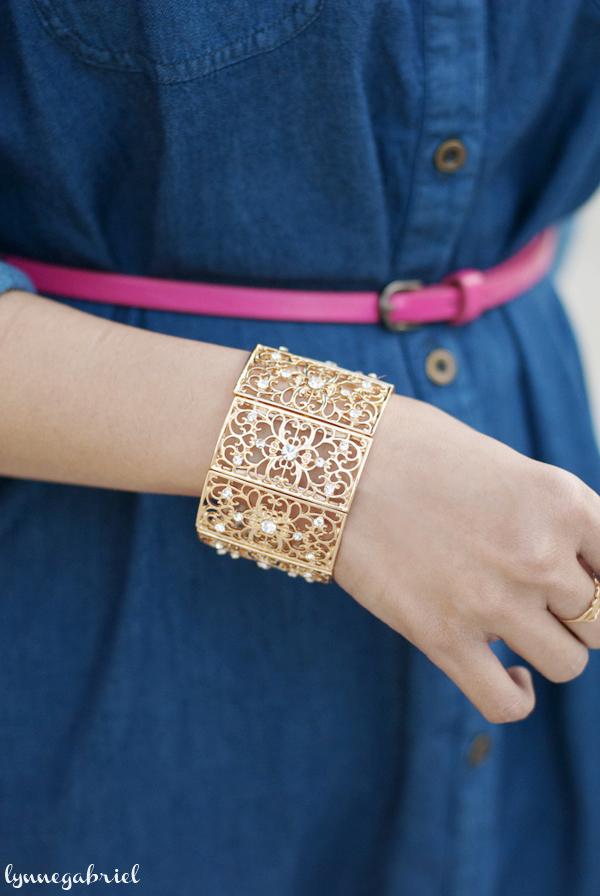 Deb Shops Gold Cuff Bracelet
