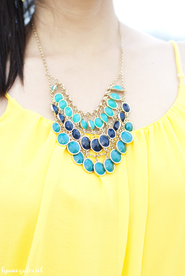 Turquoise, Blue and Gold Necklace