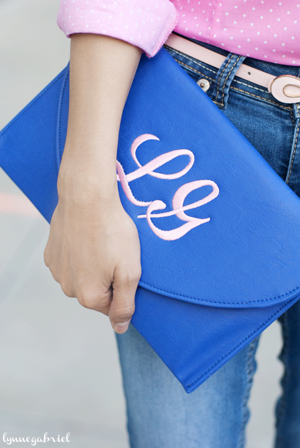 Personalized From Me To You Monogram Clutch