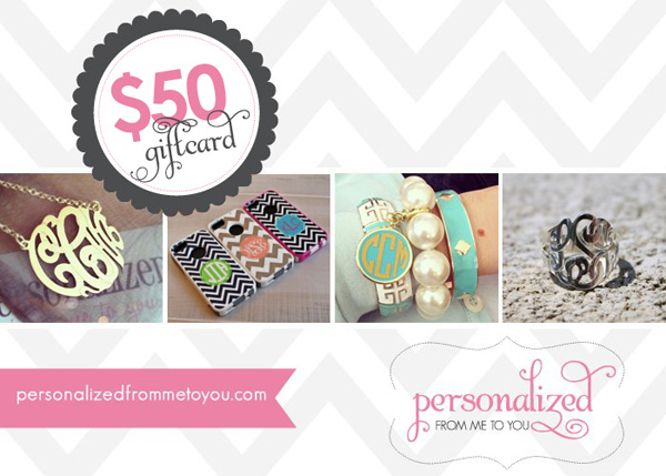 Personalized From Me To You Giveaway