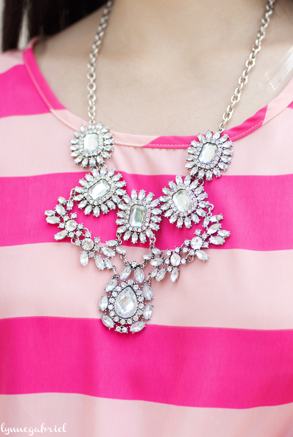 Fabulyss Silver Statement Necklace