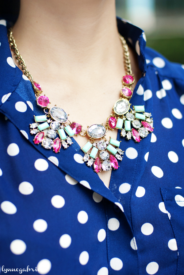 Mint green and pink necklace