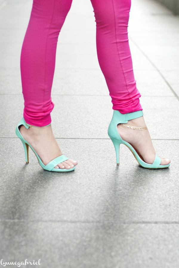 Mint Green Ankle Strap Heels