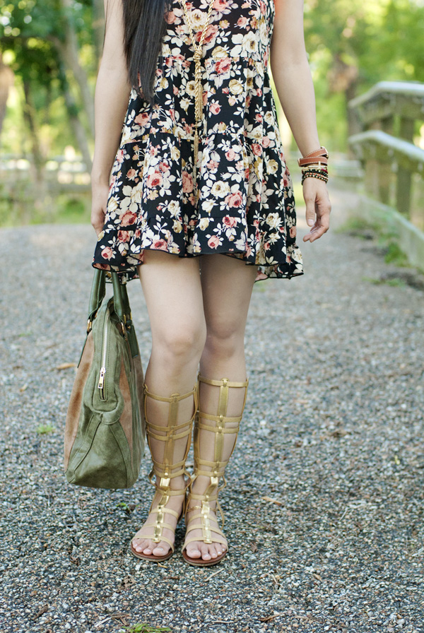 3f67f0c1924 Travel Style Series 3  Floral Slip Dress + Gladiators — Whatever is ...