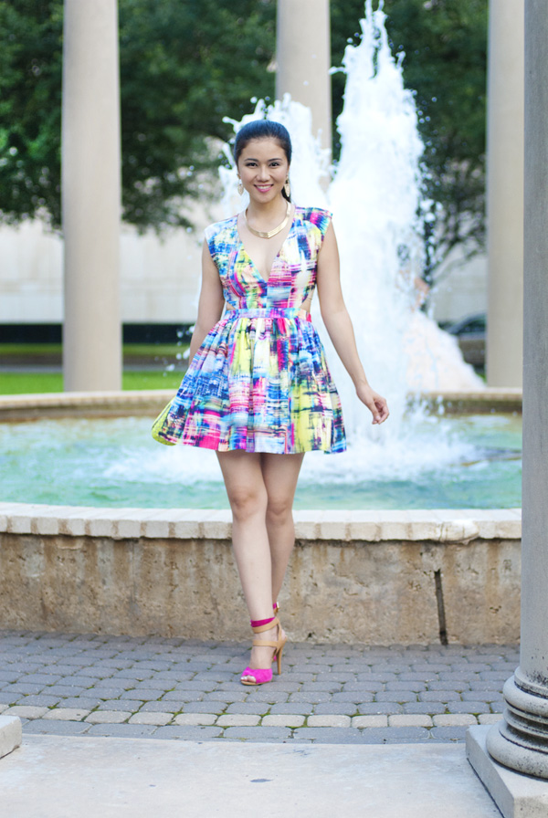 Watercolor Cut Out Dress