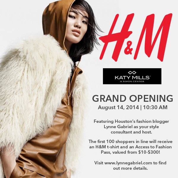 H&M Opening at Katy Mills + Giveaway at the Event
