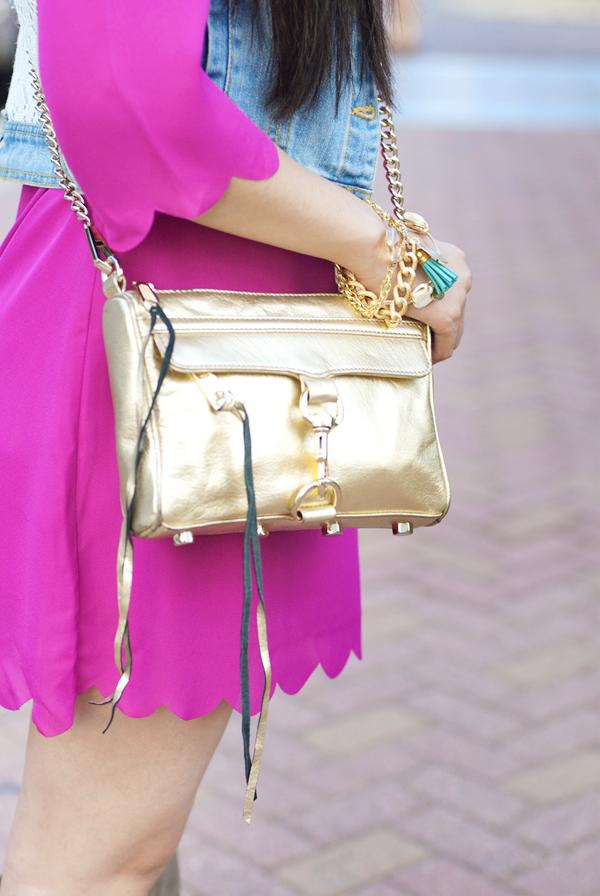 Rebecca Minkoff Mini Mac Gold Metallic Bag