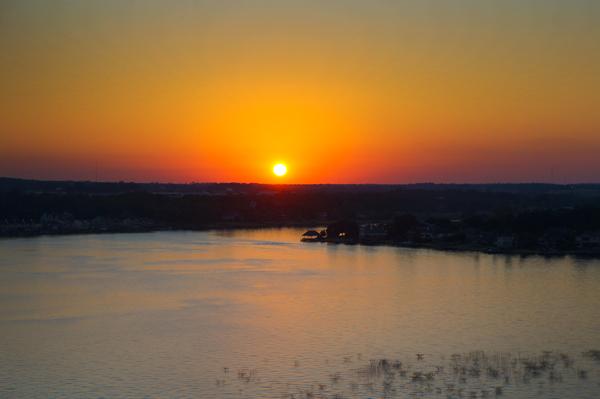 Sunset at Lake Conroe, Texas