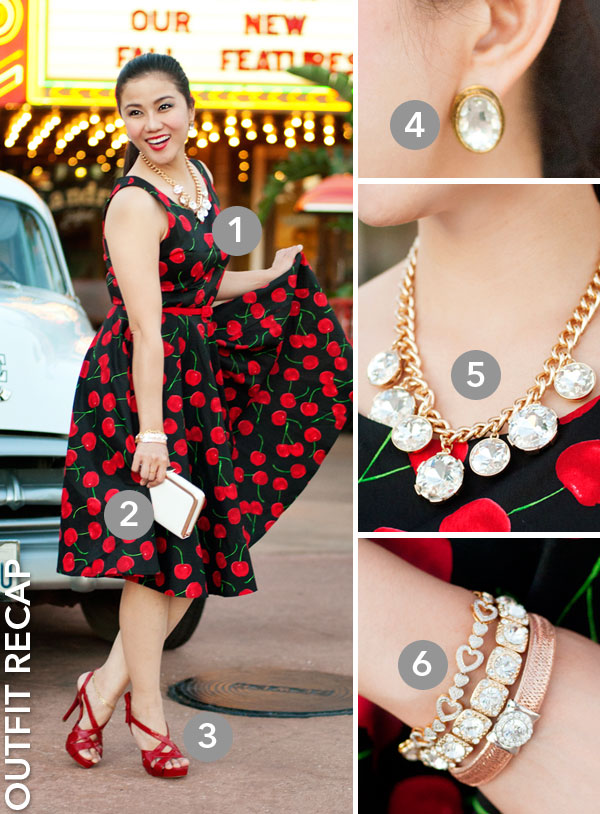 Chicwish Cherry Vintage Dress