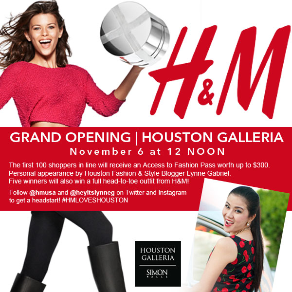 H&M Houston Galleria Grand Opening + Giveaway Info