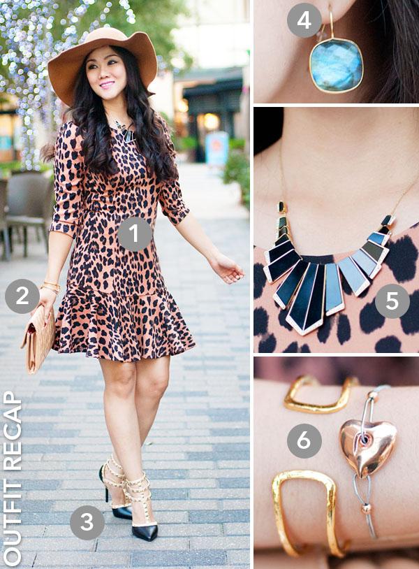 Leopard Print Trumpet Dress