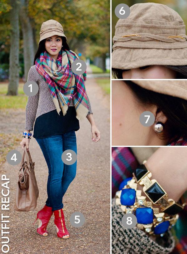 Vigoss Jeans and Blanket Scarves