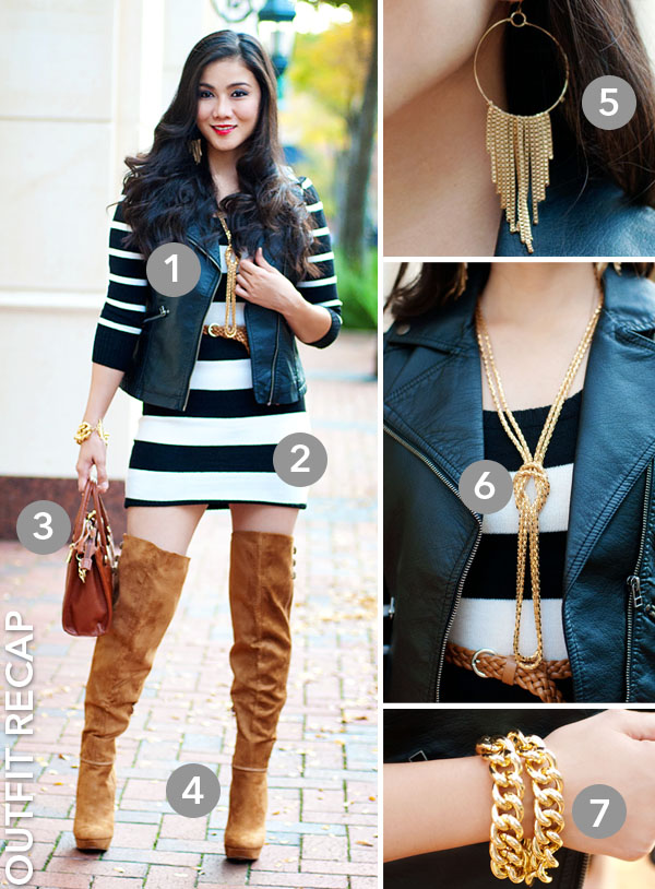 Deb Shops Sweater Dress and Over The Knee Boots