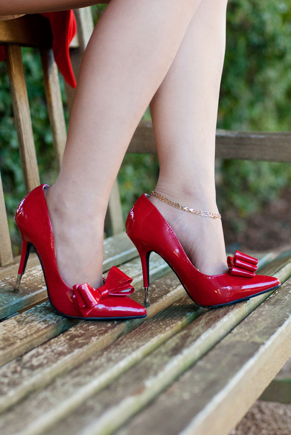Red Shoes with Bow