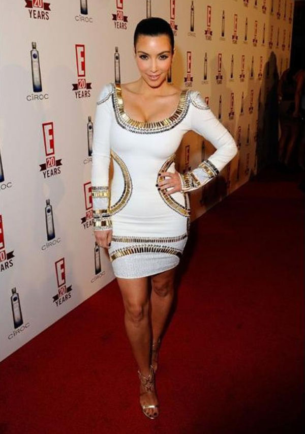 Kim Kardashian Metallic Bandage Dress