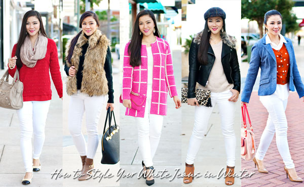 HOW TO  5 Ways to Style Your White Jeans In Winter — Whatever is Lovely 17b72a12907