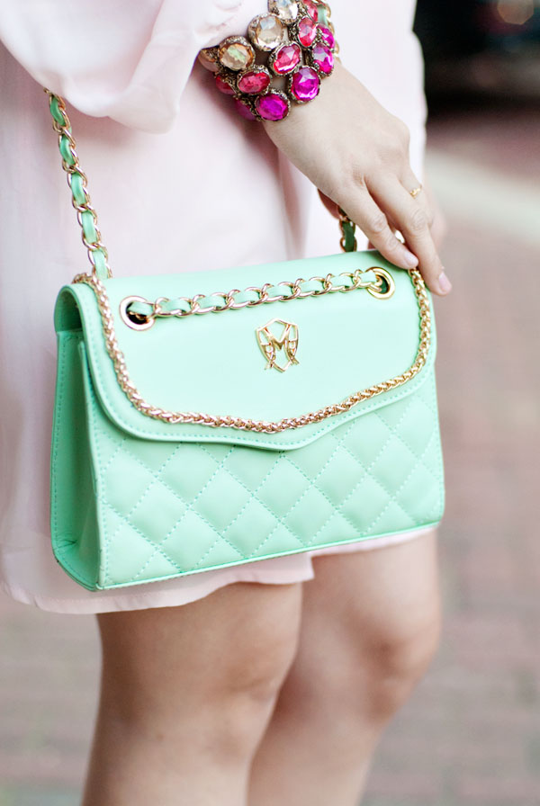 Greg Michael's Mint Green Bag