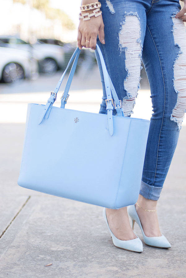 Tory Burch Light Blue Tote