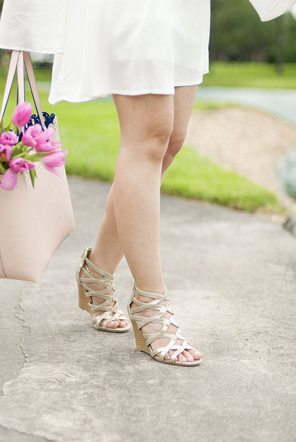 Strappy Wedge Sandals