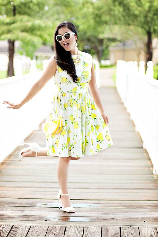 Lemon Print Dress