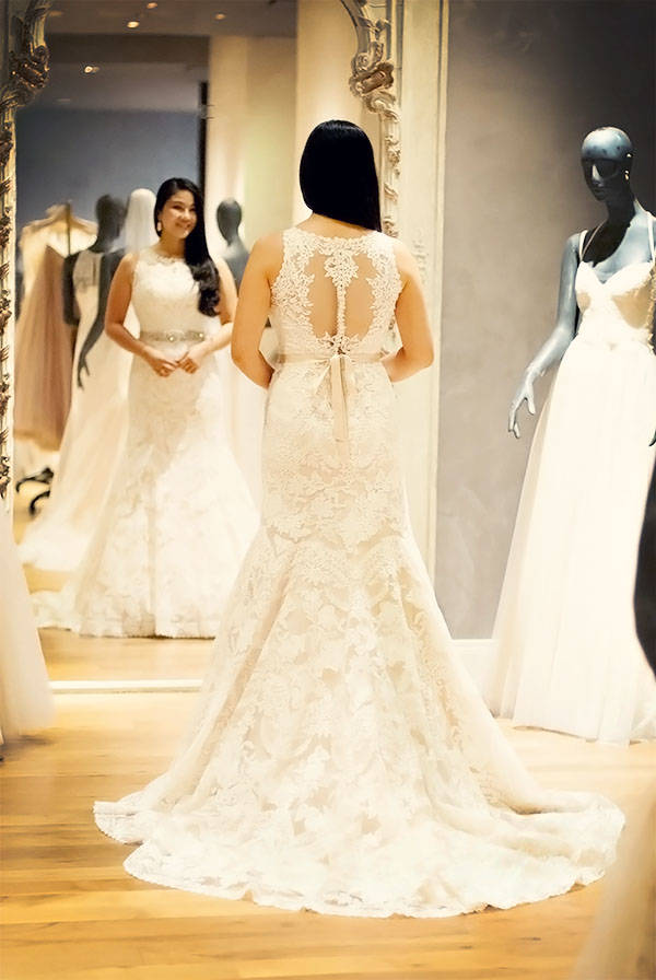Bridal Dress Shopping Experience at BHLDN Houston