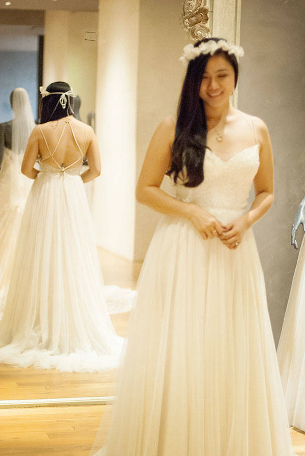 Bridal dress shopping experience at bhldn houston for Vintage wedding dresses houston