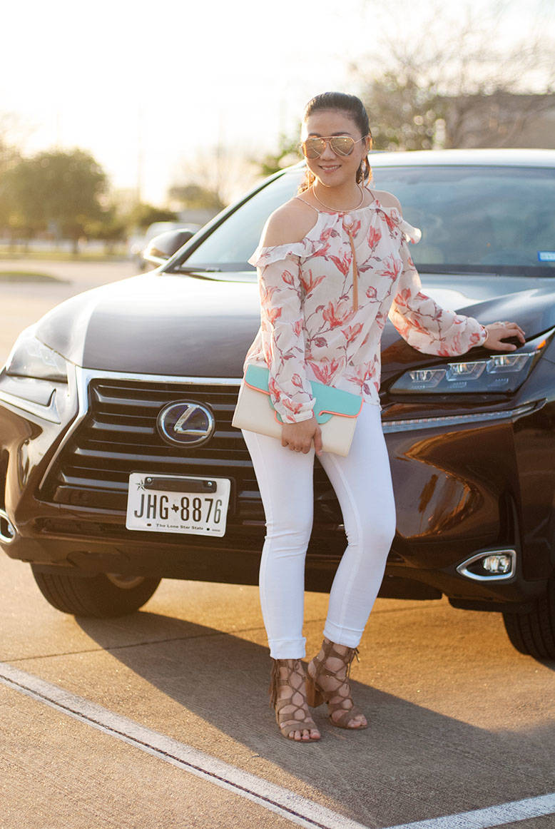 Off-The-Shoulder Top in Lexus Style
