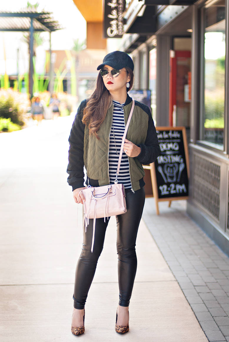 fe5441352cd Fall Outfit Inspiration  The Only Quilted Bomber Jacket You Would Want To  Own