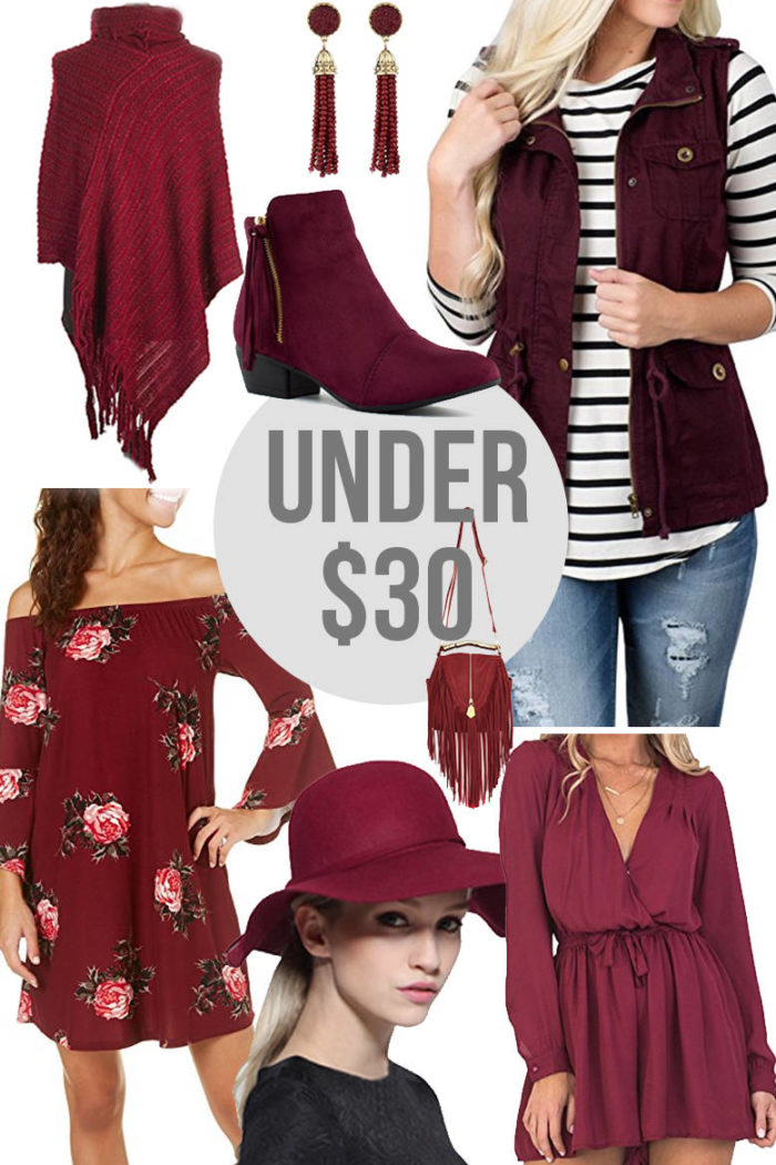 8 Fall Pieces In Shades of Burgundy For Under $30