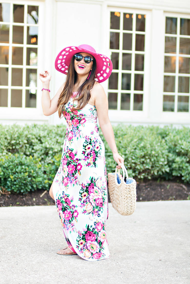 Floral Maxi Dress as Wedding Guest Outfit