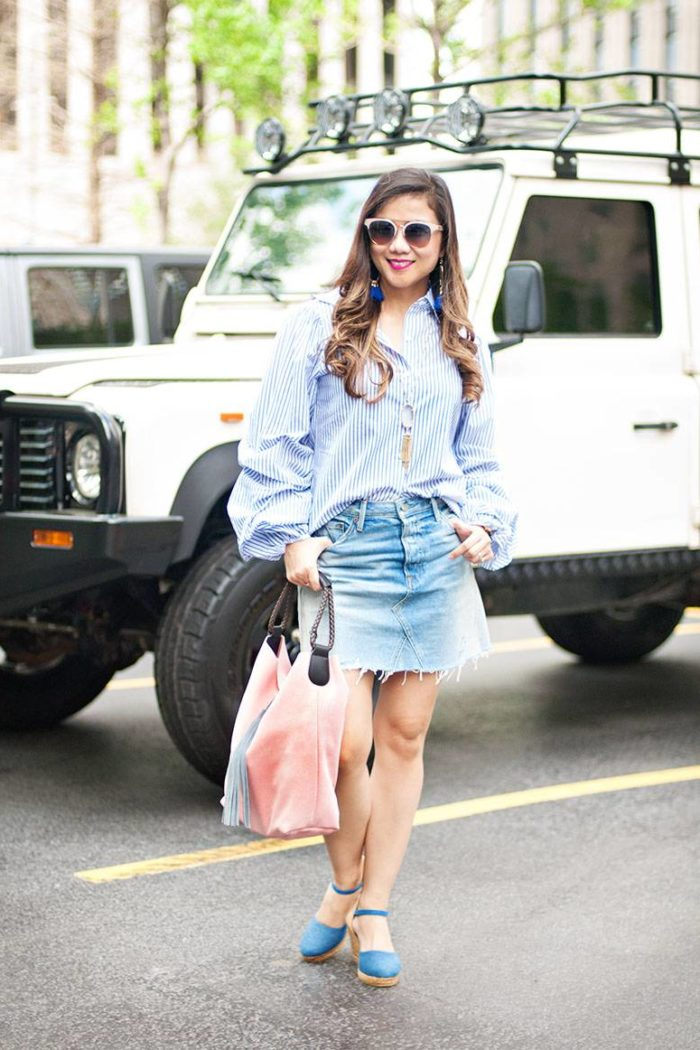 Summer Outfit Inspiration: Denim Mini Skirt