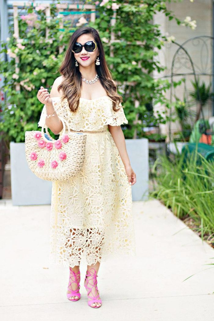 What to Wear As a Wedding Guest This Summer: Lace Dress Choices