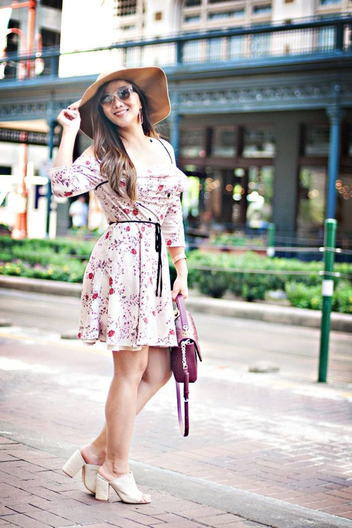 Fall Outfit Inspiration: Must Have Floral Fall Dress For Cities Like Houston