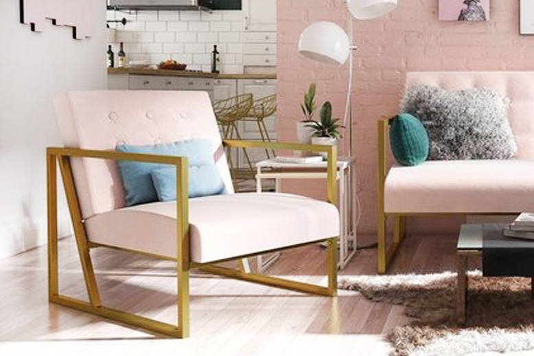 Modern Blush Chair