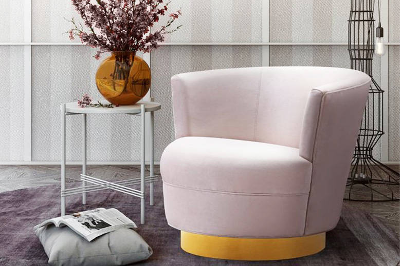 Blush Swivel Chair