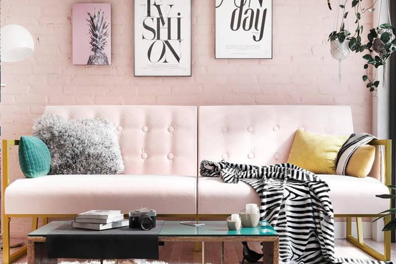 Modern Blush Sofa